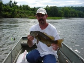 Four pound smallmouth,from the staunton river, one of central virginia's most overlooked fisheries