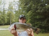 My lake  on the land. Caught it off a YUM Money Minnow! 9lbs 2oz