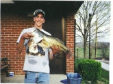 I caught it in a farm pond in boyle co. Kentucky.  I was so excited!  It weighs 9 lbs 1 oz. by the fish and game dept.  I got a ky trophy fish award for it.  It was 24.5 inches long and 17.75 inches girth.  It is my favorite down home catch! Thanks for all of Bill Dances tips you can catch fish like this!