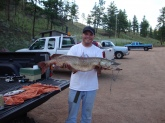 Went fishing with my dad and had to show him how it's done, caught 8/15/09 at Cheesman res. in Colorado.