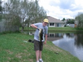 my dad and i went fishing and i caught this beauty i love to fish it was about 7 pounds and i caught it in my hood