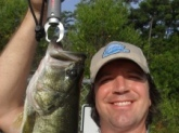 I caught this bass on 9/13/09 in a pond in downtown Myrtle Beach, S.C. around 8:30am. I was fishing with a lipless crank bait around 10ft down. He weighed 5.2 lbs.