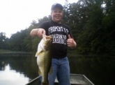 This is a 7 pound largemouth i caught on a red spinner bait in Fulton county!