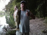 This 6lb 6oz largemouth was caught in Warren county on an electric grape!