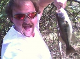 caught this 3lb bass out of a river that runs right along a mountain bike trail 2 miles outside of springfield mo.