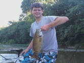 Small mouth on the duck river in Columbia, TN. This one was caught two shoals up river from Chickasaw.