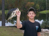 three poound six ounce bass in lake upchurch