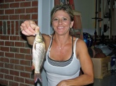 Momma Perkins carp, a lot smaller than the fish she hooked at the beach but its cool