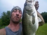 This big beast was caught on may 27, 2009, in the Cleveland, Ohio area, on my homemade hand-carved lure.