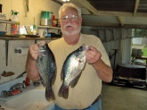 My old buddy Ty with just a couple of Crappie from Lake Eufala. What an awesome place.