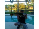 8.5lbs Old Charlie caught out of backyard pond in Kissimmee Fla by Dave Gamble