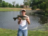 This 6-7 pound bass was caught out of my 5-acre pond. Caught with a BooYah Buzzbait