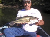 one of the best bass i have ever caught,about 8 to 9 pounds caught in a small lake in greenfield indiana