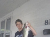 I cot this 3 pound largemouth bass in Vincennes,Indiana.
