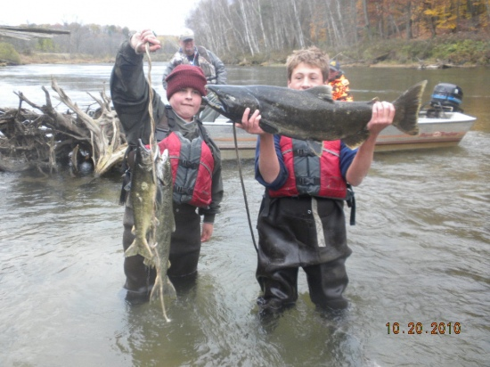 Salmon Fishing in North Michigan, October 2010