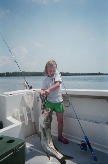 Autumn's first snook in Tampa Bay