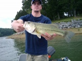 5lb largemouth caught at Cherokee Lake in Grainger County, TN... Bait used, Gambler Giggy Head 3/8oz & a Zoom Green Pumpkin Finesse Worm