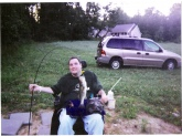 When your a Quadriplegic, fishing with an adaptive rod holder strapped to your wheelchair, this little 1 1/2 pounder feels like your fighting a 10 lb. lunker that Bill Dance is reeling in on a regular basis.  Fishing is my #1 passion on God's green Earth.  thanks, Brian Brown