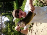 caught this 7 pounder off an gulp alive white pearl minnow at lake potanipo in brookline new hampshire