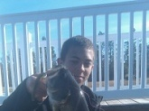 I caught this fish in a pond around my house. It weighed around 4.5 pounds.