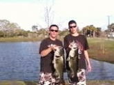 These two bass were caught on march 24th 2010 on live shiners, sight fished off a bed.The fish on the left is 14lbs and the one on the right is 10lbs. Both fish were released unharmed.