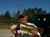 7.75 lbs. caught in Middleton, Tennessee on a Black veined 8