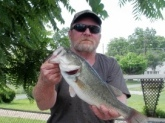MY FIRST BASS OF 2011 ON SPRING MORNING IN APRIL AT ABMERAL  LAKE IN VA
