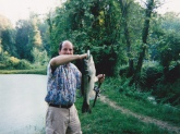 Fish caught in small pond in Sunrise, Maryland.Not sure what it weighed. Any guesses, Bill? -Thanks Greg Borchert