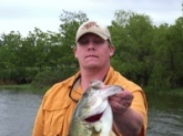 Caught and released from La Cygne Reservoir in Kansas on a 3/4 ounce Mop Jig with a 5