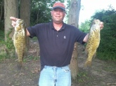 Caught these 2 nice smallies on back to back casts in Darby Creek, OH.  One was 19