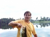 7lb large mouth caught with Quantum Bill Dance Baitcast Combo and a BOOYAH spinner bait.
