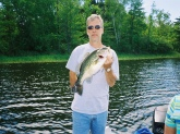 pavilas lake wisconsin dont know weight caught on a spinnerbait