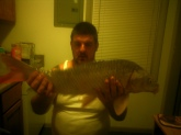 35 Lbs. Orange Carp. Caught at Cheney Kansas on a Walmart night crawler.