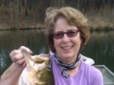 My wife Rosemary caught this 11 pounder in a private St. Clair county Al. lake using a Shad Rap crank bait.