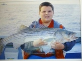 Striped bass caught in the Atlantic Ocean 42inches