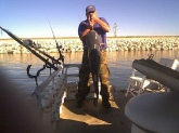 On 12/30/2008 I was on Lake Marion in Santee SC. Drift fishing for Catfish. Using Rod and Real Test line 20LB and Cut Shadas bait. Cought a Blue Catfish Weighing 65 LBS and 55