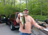 Early morning bass on Wyassup Lake North Stonington Ct