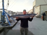 Jim mcnelley my first wahoo caught in north carolina in november 2013.it weighed 28lbs.