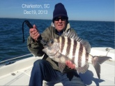 Sheepshead 9.1 lbs December 19, 2013  Charleston, SC