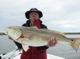 Caught with Mike Frenette at Redfish Lodge, Venice, Louisiana. Weight 40 pounds.