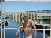 Me and my nephew Nick had a great day right off the beach in West Palm Beach, Florida catching these 9 school dolphin.