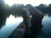 Nice 5lbs bass. 8 inch grape ape worm. Privete lake in Ga. Bill lets go fishin buddy. Thanks for everything.