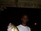 Large Mouth Bass caught in Old Hickory Lake in Tennesse.