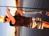Jack Smelt caught on 12/27/14 @ Pismo Beach, California while wearing his new Bill Dance hat that Santa brought.  Fresh fish tacos!!!!