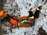 Hunting with the dogs, awsome day