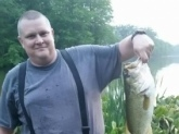 Bank fishing the Assunpink WMA with my son William. Caught this 23.5