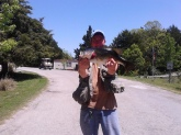 this was caught in a strip pit mine in se oklaoma. i prefer to fly fish so this was taken with a #10 olive woolly bugger