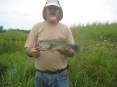 caught at bensicks hunting and fishing preserve. Used a green grass frog.