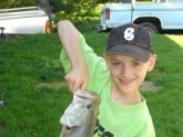 Caught it at a local pond near the haw river in NC i caught it on a Worm at 8 years old weighed almost 4lbs