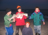 This was the largest Striper ( 34 inches 20 lbs ) of about 20 stipers me and my friends had caught.  It was about 4 yrs ago surf fishing at LBI, NJ.  When the fish hit my sand spike holding my rod snapped in half and started to drag my rod out to sea!!!  almost got away but not quite.